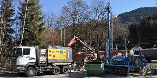 Brunnenbauarbeiten in Kitzbühel