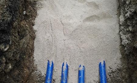 Anbindeleitungen im Sandbett