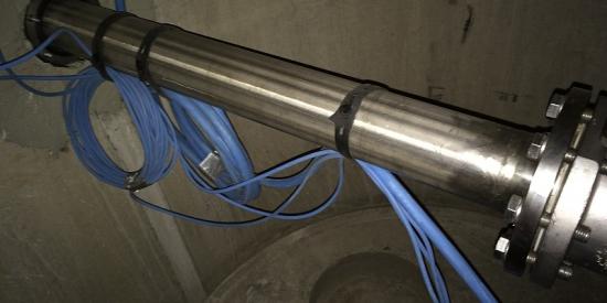 Druckleitung aus Edelstahl und Pumpensumpf