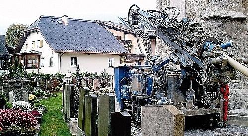 Erdwärmebohrungen für Kirche Bad Vigaun