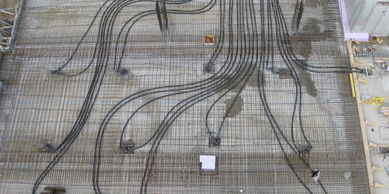 Luftbild Anschlussleitungen