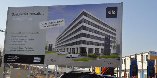 Bautafel Silo Liesing Offices Wien